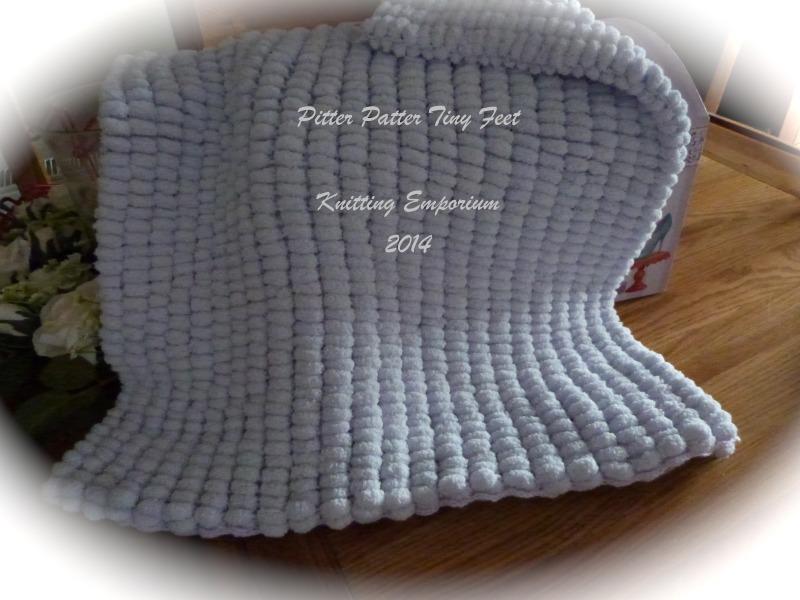 Pom Pom Marshmallow Baby Blanket | Pitter Patter Tiny Feet Knitting ...