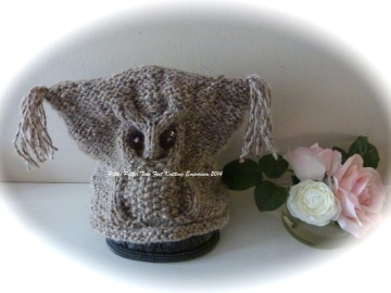 Tweed adult owl hat 2
