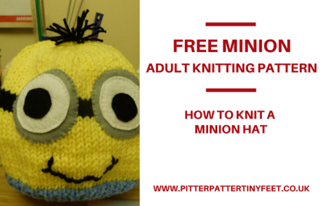 Free Knitting Patterns Baby Hat : Adult Minion Hat - Knitting Pattern Pitter Patter Tiny Feet Knitting Emporium
